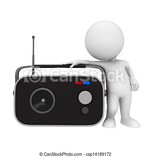 3 blancos con radio - csp14189172