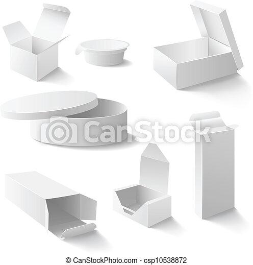 Cajas blancas listas - csp10538872
