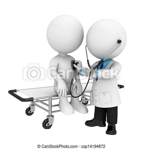 Tres blancos como médico - csp14194872
