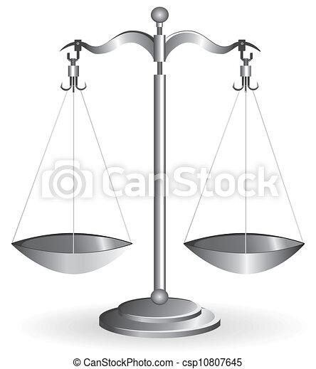 Balance escala aislada en blanco - csp10807645