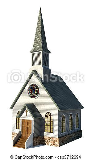 Iglesia en blanco - csp3712694