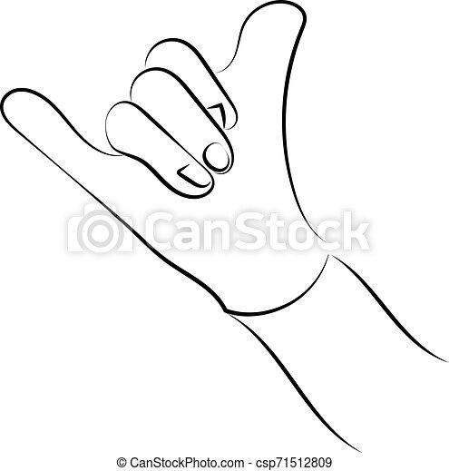 blanco, mano, fondo., actuación, vector, señal, ilustración, aprobar - csp71512809
