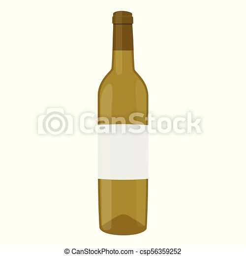Vector de vino blanco - csp56359252