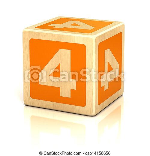 Cuatro bloques de madera - csp14158656