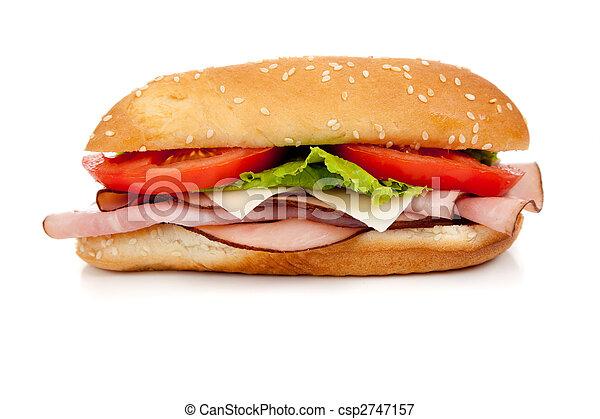 Sándwich de carne variado con arreglos en un sándwich - csp2747157