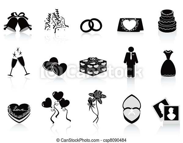 iconos negros listos - csp8090484