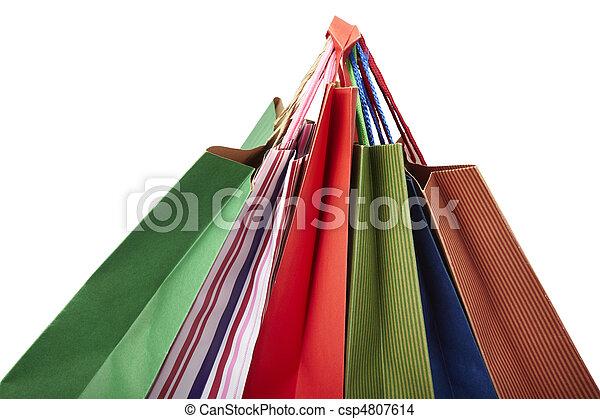Comprando bolsas de consumismo - csp4807614