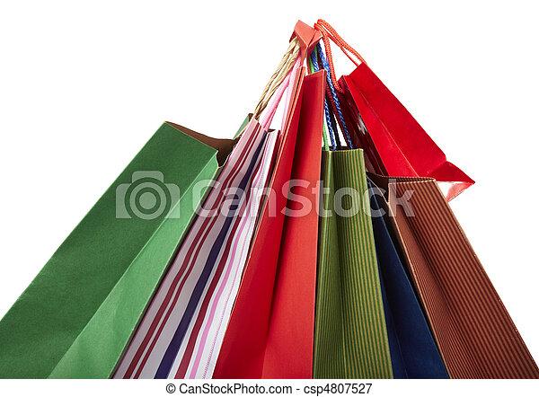 Comprando bolsas de consumismo - csp4807527