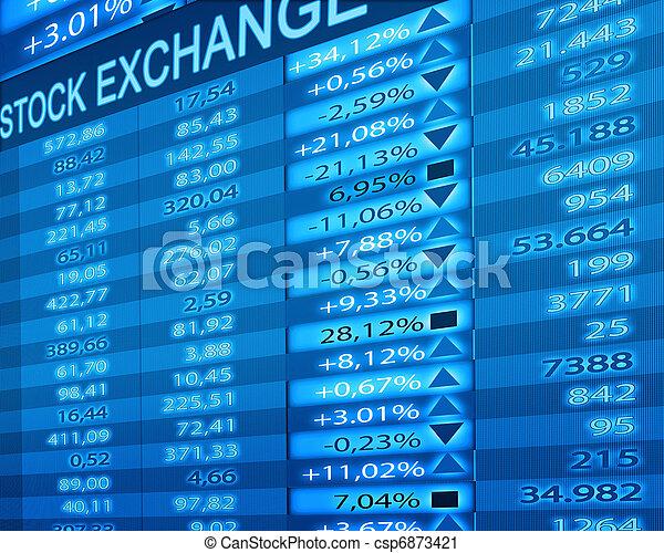 Bolsa de valores - csp6873421