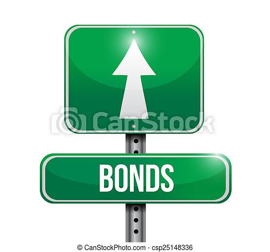 Bonds Street señala diseño de ilustración - csp25148336