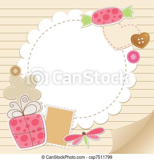 Bonita tarjeta de felicitación - csp7511799