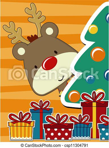 Bonita tarjeta de Navidad - csp11304791