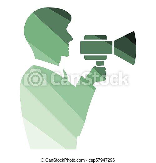 Hombre con ícono de boquilla - csp57947296