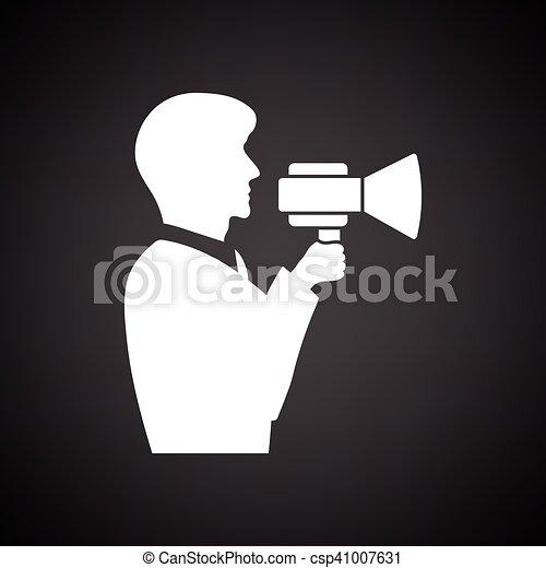 Hombre con ícono de boquilla - csp41007631