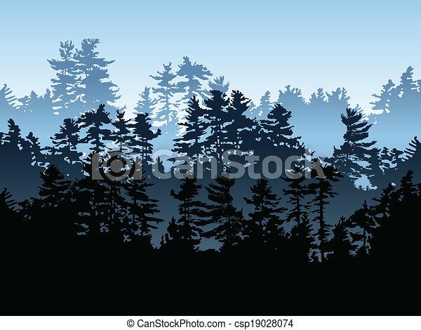 Bosque Evergreen - csp19028074