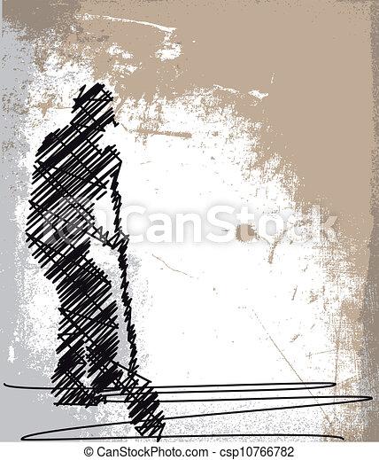 Abstracción de Obrero cavando con una pala. Ilustración del vector - csp10766782