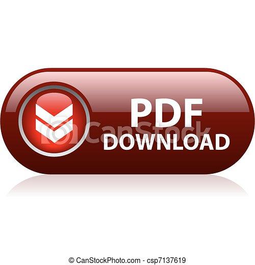 Botón de descarga Pdf - csp7137619
