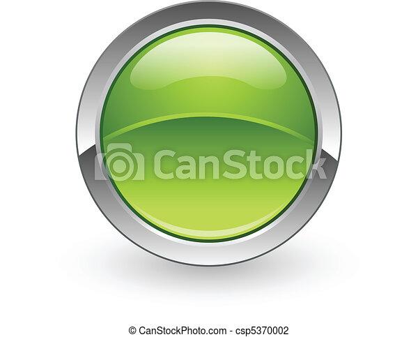 Botón de esfera verde - csp5370002