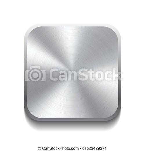 Botón de metal realista - csp23429371