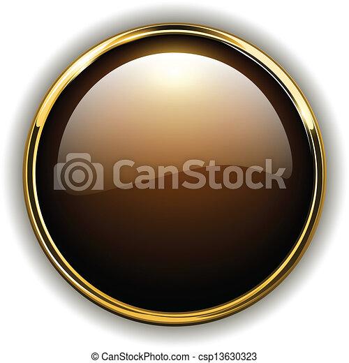 Botón de oro - csp13630323