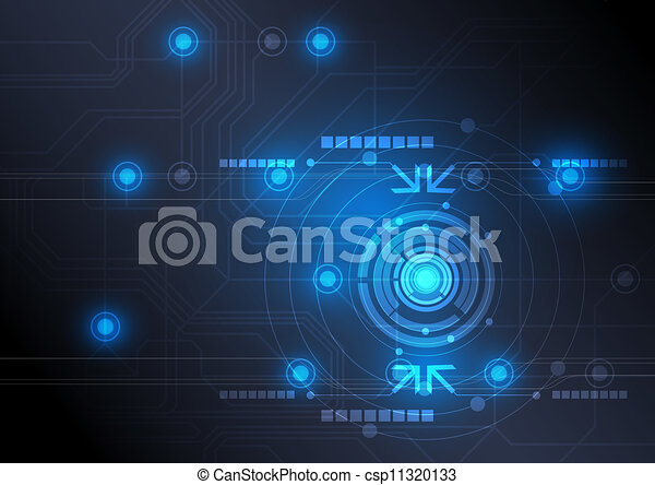 Botón moderno y diseño tecnológico - csp11320133