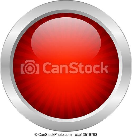 Botón vector rojo - csp13519793