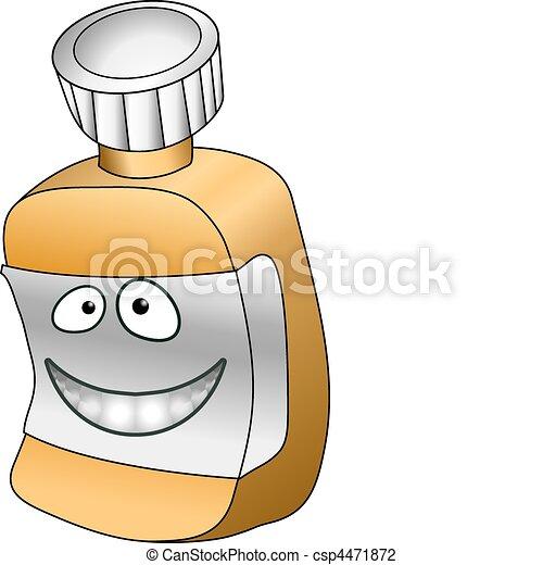 Ilustración de la botella - csp4471872