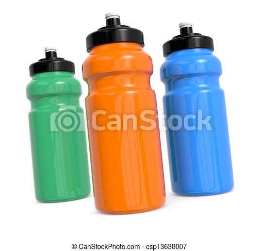 Botellas de agua - csp13638007