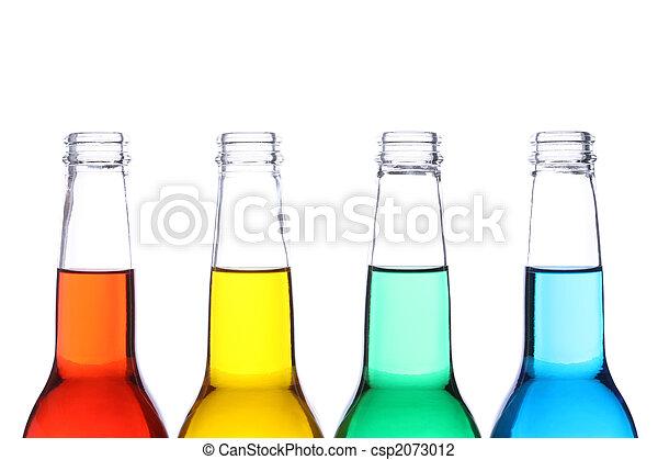 Botellas de color aisladas - csp2073012
