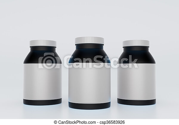 Botellas negras - csp36583926