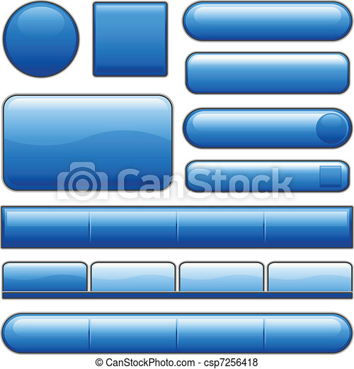 Botones azules de internet - csp7256418
