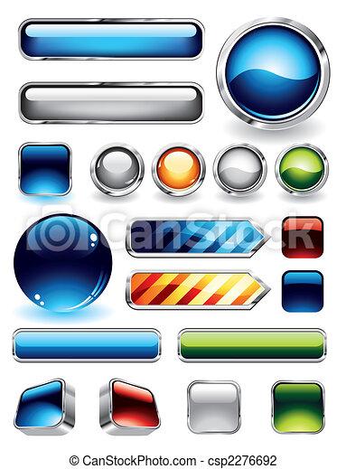 Coleccion de botones brillantes - csp2276692