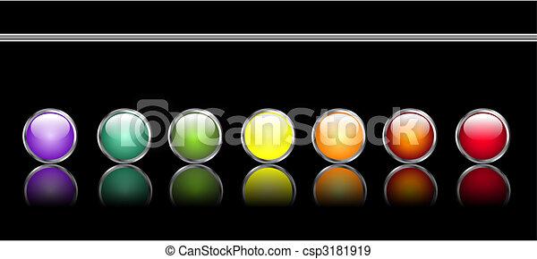 Botones de telaraña brillantes - csp3181919