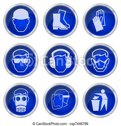 Botones de salud y seguridad - csp7446799
