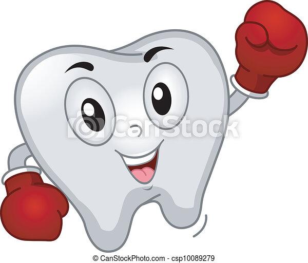 La mascota de la caja de dientes - csp10089279
