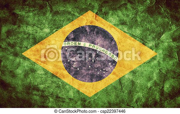 La bandera grunge de Brasil. Un objeto de mi colección de banderas retro - csp22397446