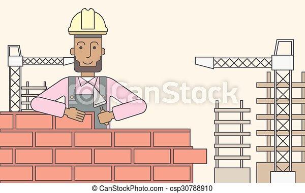 Bricklayer. - csp30788910