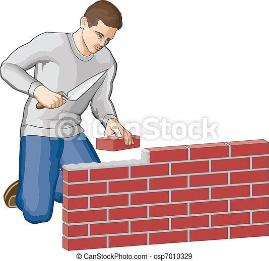 Bricklayer - csp7010329