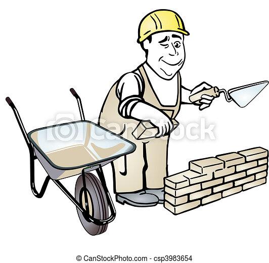 Bricklayer - csp3983654