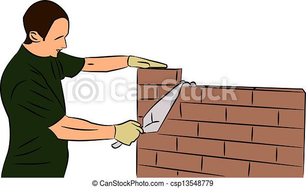Bricklayer - csp13548779