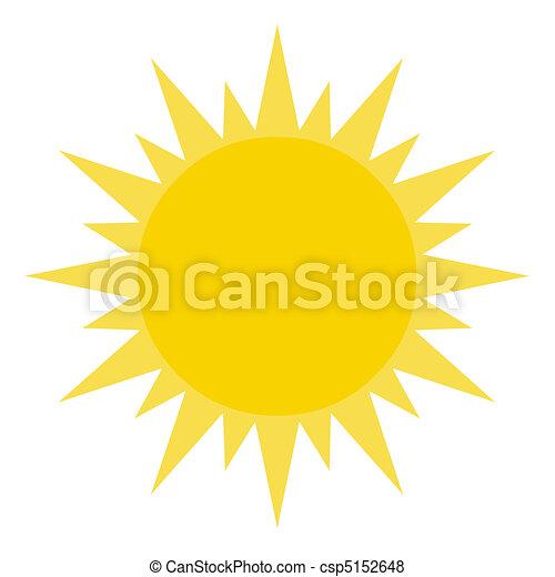 El sol amarillo brilla - csp5152648