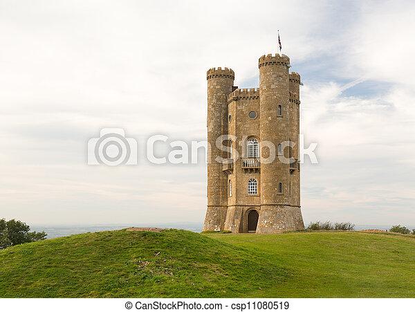 Torre de Broadway en Cotswolds en Inglaterra - csp11080519
