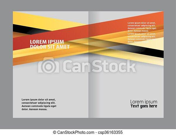 Brochure bi pliegue - csp36163355