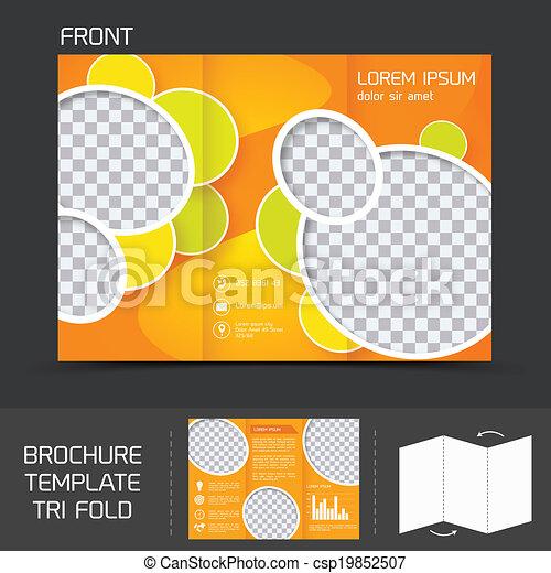 Brochure plantlate tri pliegue - csp19852507