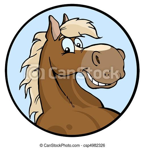 Buena ilustración de caballo - csp4982326
