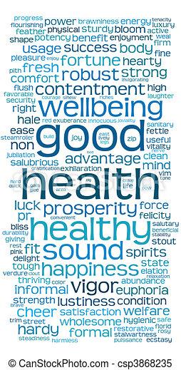 Buena salud o nube de etiqueta - csp3868235