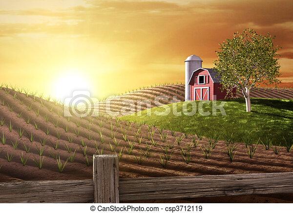 Buenos días en la granja - csp3712119