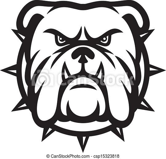 Cabeza de bulldog - csp15323818