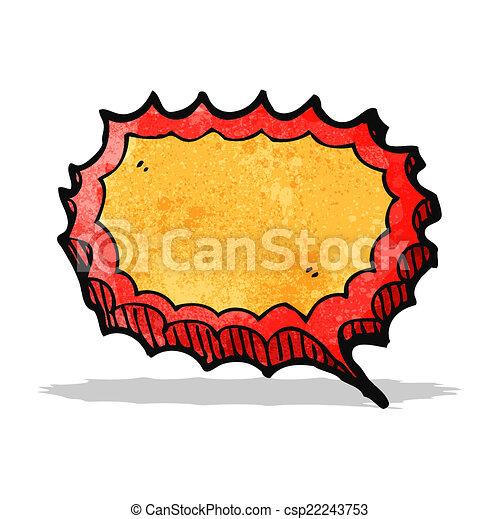 Burbuja de habla de dibujos animados - csp22243753