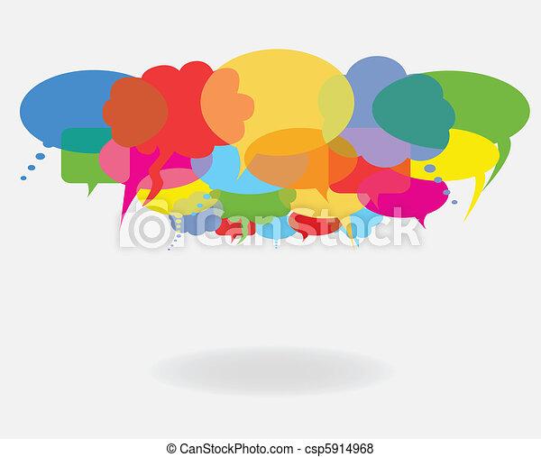 Habla y habla burbujas - csp5914968
